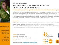 Presentación del informe del fondo de población de Naciones Unidas 2012
