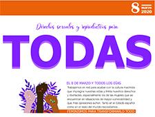 El 8M y todos los días… Derechos sexuales y reproductivos para todas