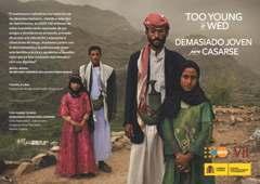 Demasiado joven para casarse. Exposición de UNFPA en Madrid