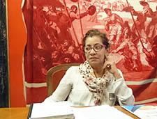 Defensora de los derechos sexuales y reproductivos en Honduras, con el intergrupo