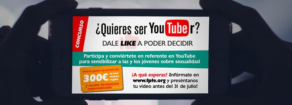 Concurso YouTubers para Joven de Atención a la Sexualidad de Madrid