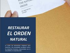 El Foro Parlamentario Europeo sobre Población y Desarrollo publica en español el libro «Restaurar el orden natural»