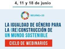 Ciclo de webinarios: La igualdad de género para la (re)costrucción de un mundo sostenible