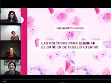 Encuentro sobre políticas de prevención y detección de cáncer de cuello uterino. ¡Puedes verlo aquí!
